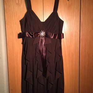 Brown Betsy & Adam Dress with Rhinestones 10 EUC